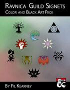 Ravnica Guild Signets Color and Black Art Pack