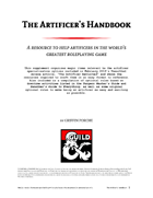 The Artificer's Handbook