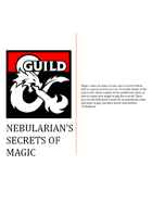 Nebularian's Secrets of Magic