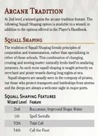 Squall Shaping Wizard Tradition