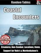 Coastal Encounters - Random Encounter Tables