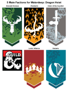 art 002 - Dragon Heist 5 Faction Emblems approximations