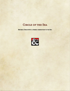 Druid Subclass-Circle of the Sea