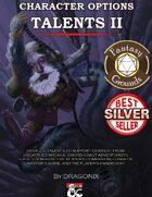 Character Options: Talents II 5E (Fantasy Grounds)