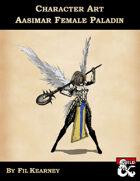 Character Art Aasimar Female Paladin