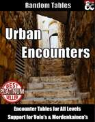 Urban Encounters - Random Encounter Tables for Cities