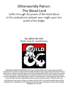 Otherworldly Patron: The Blood Lord