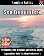 Sea Encounters - Random Encounter Tables