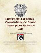 Sorcerous Sundries - Compendium of Magic Items from Baldur's Gate