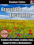 Grassland Encounters - Random Encounter Tables