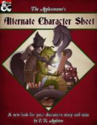 Alternate Character Sheet
