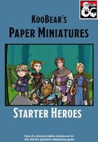 Starter Heroes - KooBear's Paper Miniatures