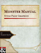 Monster Manual-Style Page Background and Graphics
