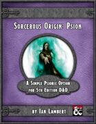 Sorcerous Origin: Psion