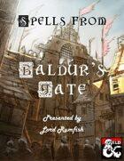 Spells from Baldur's Gate
