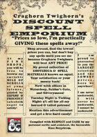 Craghorn Twighorn's Discount Spell Emporium