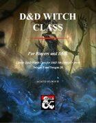 D&D Witch Class