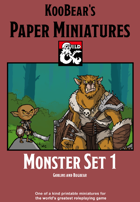Monster Set 1 Goblins and Bugbear - KooBear's Paper Miniatures