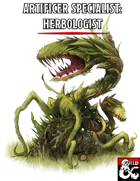 Artificer Specialist: Herbologist (UA Edition)