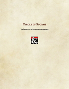 Druid Subclass-Circle of Storms