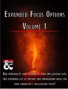 Expanded Focus Options - Volume 1