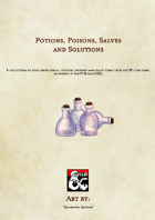 Potions, Poisons, Salves and Solutions - 5E Potion Cards