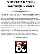 D&D 5e Ranger New Feats & Spells