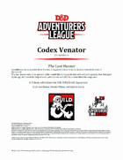 CCC-SLMH01-01 Codex Venator - The Last Hunter