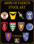 Arms of Faerun Heraldry Stock Art