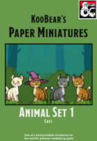 Animals Set 1 Cats - KooBear's Paper Miniatures