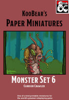 Monster Set 6 Carrion Crawler - KooBear's Paper Miniatures