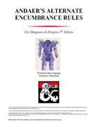 Andaer's Alternate Encumbrance Rules