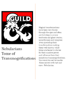 Nebularian's tome of transmogrification