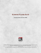 Kitsune Player Race