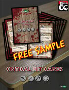 FREE SAMPLE - Critical Hit Cards (D&D 5th edition) for Printing