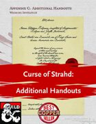 Curse of Strahd: Additional Handouts