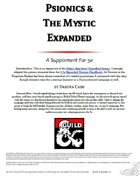 [DCM] Psionics and The Mystic Expanded