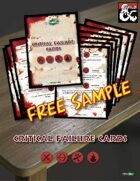 FREE SAMPLE - Critical Failure Cards (D&D 5th edition) for Printing