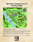 Mysterious Disappearances in Harnsey Village