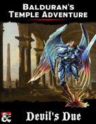 Balduran's Temple Adventure: Devil's Due