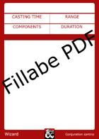 Wizard Spellbook - Fillable PDF