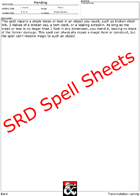 Bard SRD Spell Power Sheets - Make your own Spellbook