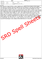 Sorcerer SRD Spell Power Sheets - Make your own Spellbook