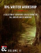 RPG Writer Workshop Fall 2019 Vol. II [BUNDLE]