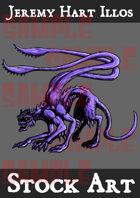 Displacer Beast Stock Art 1