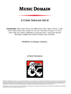 Music Domain: A Cleric Subclass