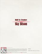 5E Creature Sky Bison