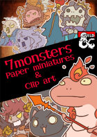 7Monsters Paper miniatures & Clip art