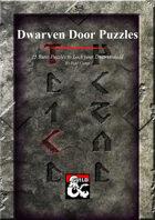 Dwarven Door Puzzles