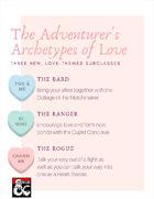 The Adventurer's Archetypes of Love